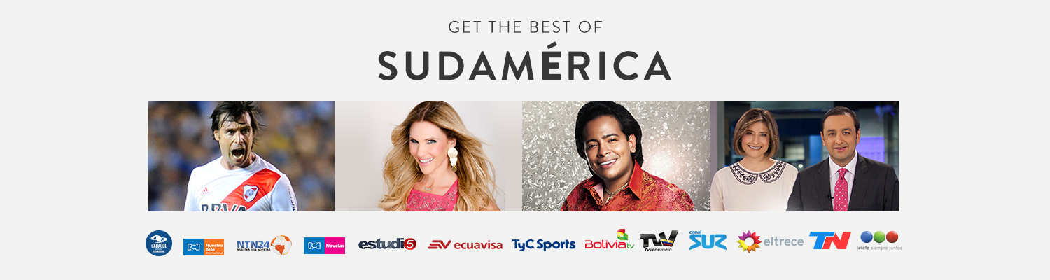 4 Sudamerica Programming Images in a row marquee