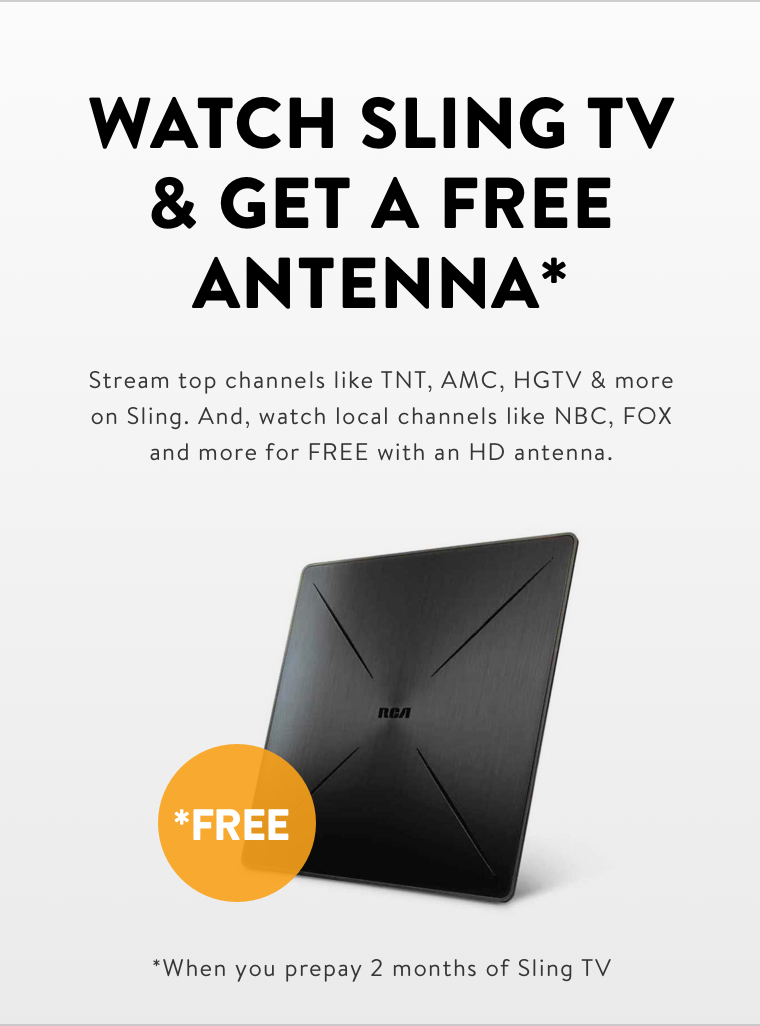 Get Local Channels with Sling TV and Antenna