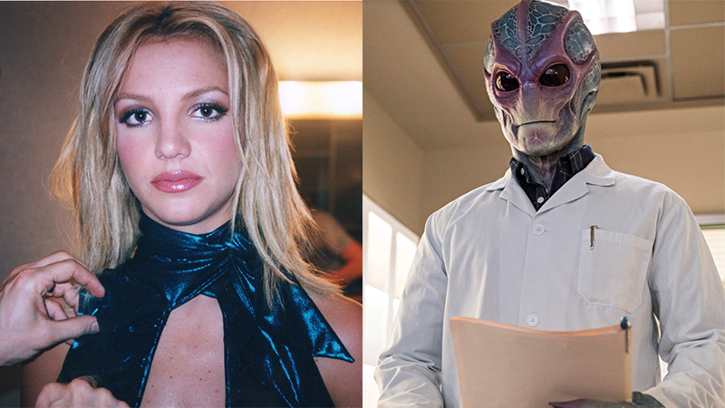 Scenes from 'Framing Britney Spears,' 'Rescue Cam', and 'Resident Alien'