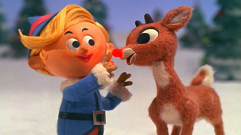 A scene from 'Rudolph the Red-Nosed Reindeer'