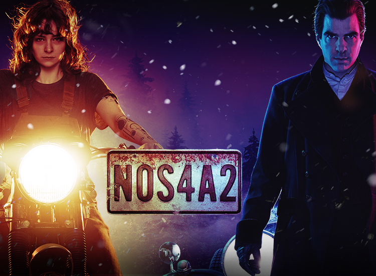 Ashleigh Cummings and Zachary Quinto in 'NOS4A2'