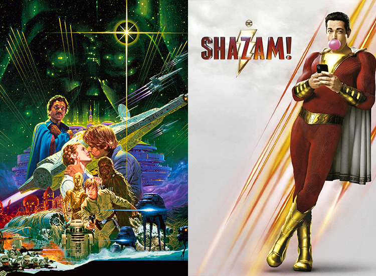 Images from The Empire Strikes Back' and 'Shazam!'